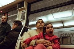 Metro, Line 1, Paris. April 13, 2018. Photo: Davide Weber