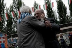 Verbania Fondotoce (VB), Italia. Parco della Memoria e della Pace. Il giorno della commemorazione dell'eccidio di fondotoce, avvenuto in questo luogo.