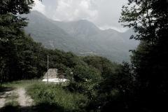Megolo (VB), Italia, località Cortavolo. Il monumento, inaugurato nel 1999 dall'allora Presidente della Repubblica Scalfaro, a ricordo della battaglia del 13 febbraio 1944 fra la divisione del capitano Beltrami e truppe tedesche.